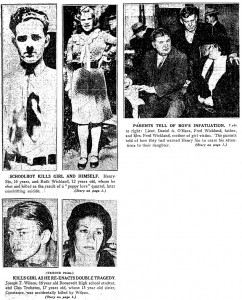 Photographs featured in the December 1, 1931 Chicago Daily Tribune. (Reproduced without permission for personal use only.)