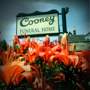 The Cooney Funeral Home, 3918 Irving Park boulevard, where the funeral services were held for Ruth Wicklund on December 3, 1931. (Photograph by The Comtesse DeSpair.)