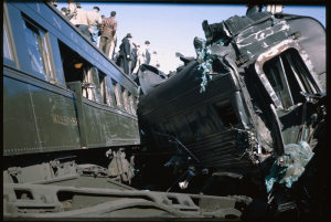 The jagged wreckage. (Photo from the Charles W. Cushman Photograph Collection)