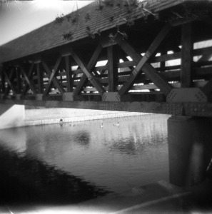 The bridge that marks the location where the children's bodies were found on February 3, 1953.