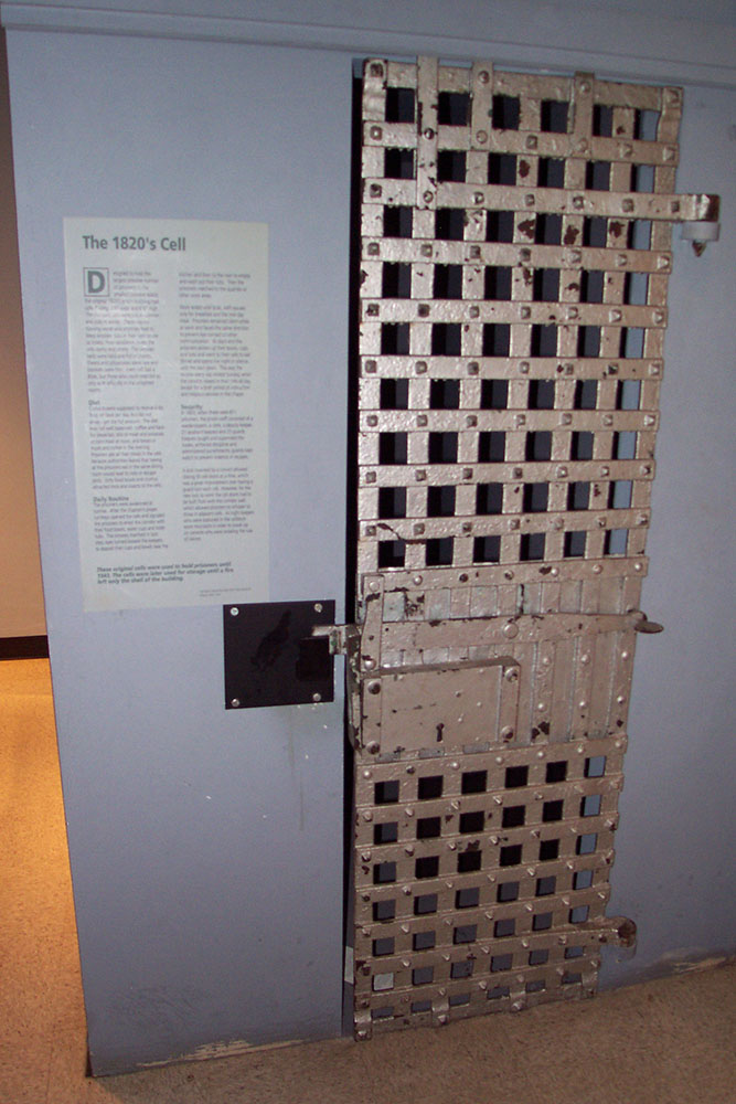 An original cell door. Not terribly exciting, is it?